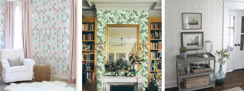 Papel pintado para salón, mil combinaciones posibles.